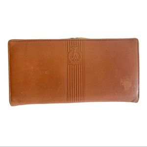 Vtg ALFRED SUNG Leather Wallet Gold Hardware